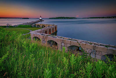 Photograph - Sunset At Spring Point Ledge by Rick Berk