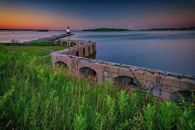 Photograph - Sunset At Spring Point Ledge by Rick Berk