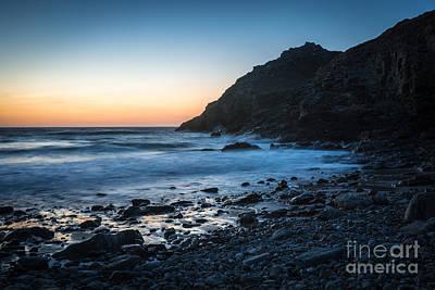 Sunset At St. Agness, Cornwall, Uk Art Print by Amanda Elwell