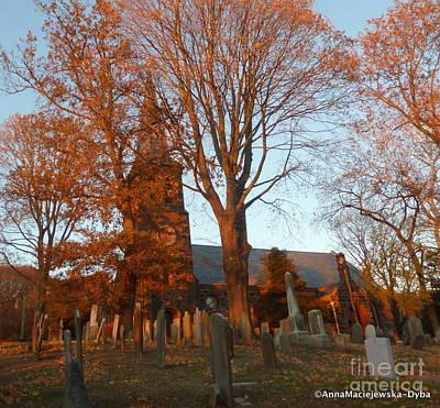 Photograph - Sunset At St Andrew's Cemetery by Anna Folkartanna Maciejewska-Dyba