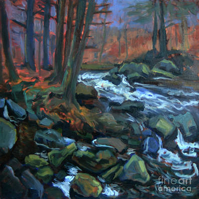 Painting - Sunset At Stony Brook by Katia Weyher