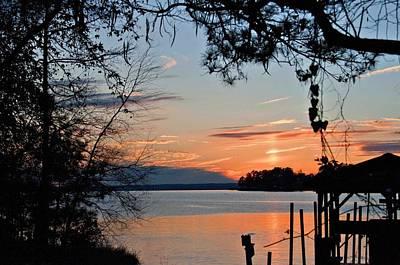 Sunset At Sunset Marina Art Print