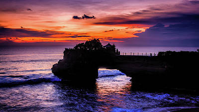 Sunset At Tanah Lot Art Print