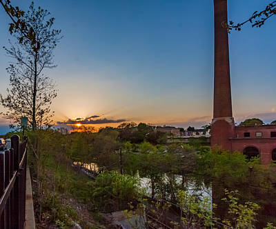 Photograph - Sunset At The Baker Chocolate Factory by Brian MacLean