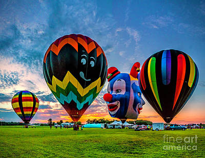 Photograph - Sunset At The Balloon Festival by Nick Zelinsky