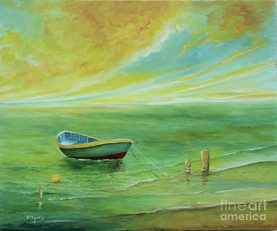 Painting - Sunset At The Beach  by Alicia Maury