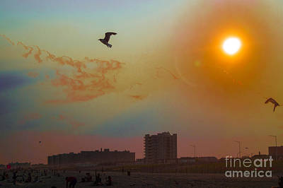Sunset At The Beach Photograph - Sunset At The Beach by Chris Baboolal