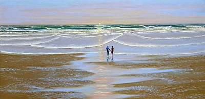 Painting - Sunset At The Beach by Frank Wilson