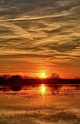 Photograph - Sunset At The Big Marsh 3 by Bonfire Photography