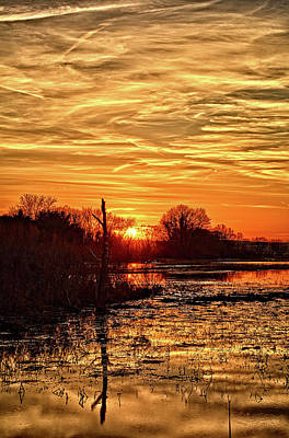 Photograph - Sunset At The Big Marsh 4 by Bonfire Photography