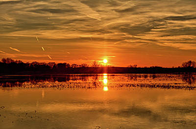 Photograph - Sunset At The Big Marsh 5 by Bonfire Photography