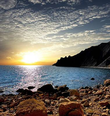 Sunset At The Black Sea Coast. Crimea Original by Yuri Hope