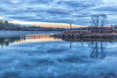 Photograph - Sunset At The Blue Hills Reservoir by Brian MacLean