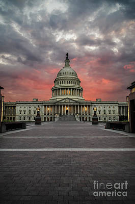 Photograph - Sunset At The Capital by Judy Wolinsky