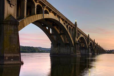 Photograph - Sunset At The Columbia - Wrightsville Bridge by Dan Myers