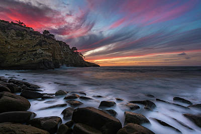 Sunset At The Cove Art Print