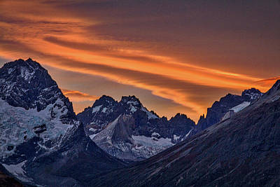 Photograph - Sunset At The Cuernos #4 - Patagonia by Stuart Litoff