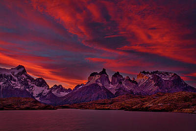Photograph - Sunset At The Cuernos - Patagonia by Stuart Litoff