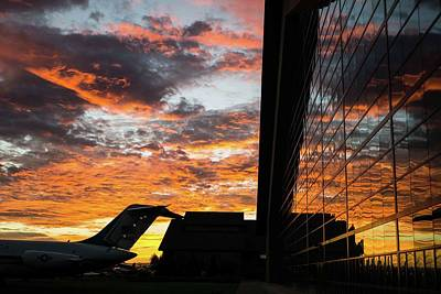 Spruce Goose Photograph - Sunset At The Evergreen Air Museum In Mcminnville Oregon by Kenneth Roberts