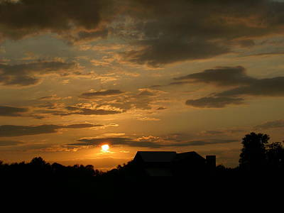 Photograph - Sunset At The Farm by Carolyn Jacob