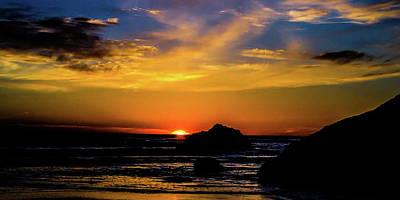 Photograph - Sunset At The Florida Seashore by Rena Trepanier