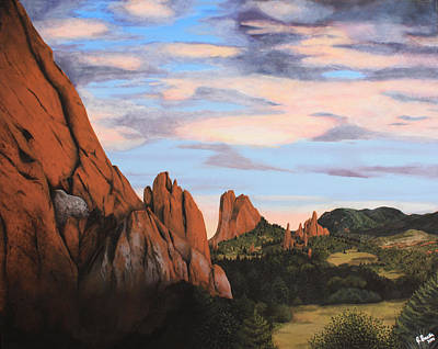 Broadmoor Painting - Sunset At The Garden  by Julia Baxter