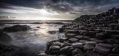 Photograph - Sunset At The Giant's Causeway #1 by George Pennock