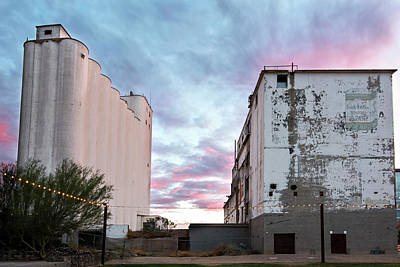 Grain Elevator Wall Art - Photograph - Sunset At The Historic Hayden Mill In Downtown Tempe by Dave Dilli