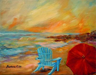Painting - Sunset At The Jetty by Barbara Pirkle