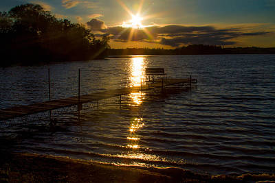Photograph - Sunset At The Lake by Bonnie Follett