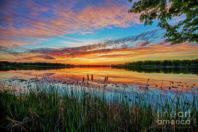 Photograph - Sunset At The Lake by David Arment