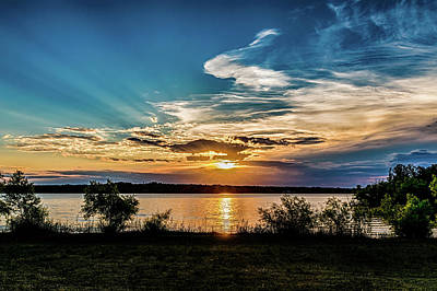 Photograph - Sunset At The Lake by Doug Long