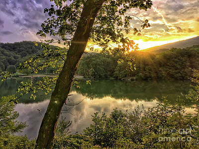Photograph - Sunset At The Lake by Kerri Farley