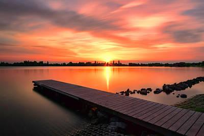 Photograph - Sunset At The Lake by Nadia Sanowar