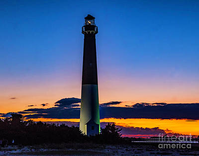 Photograph - Sunset At The Lighthouse In Barnegat by Nick Zelinsky