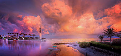 Photograph - Sunset At The Lighthouse by Mark Andrew Thomas