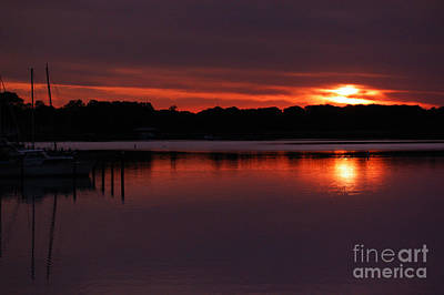 Photograph - Sunset At The Marina by Clayton Bruster