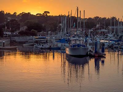 Photograph - Sunset At The Marina by Derek Dean
