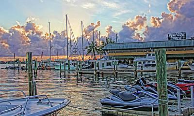 Sunset Photograph - Sunset At The Marina by HH Photography of Florida