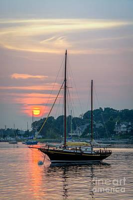 Sunset At The Marina Art Print by Scott Thorp