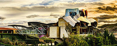 Photograph - sunset at the marques de riscal Hotel - frank gehry by Weston Westmoreland