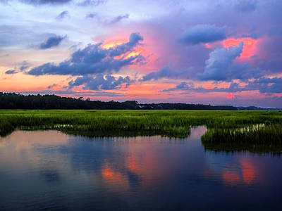 Photograph - Sunset At The Marsh by Terry Shoemaker