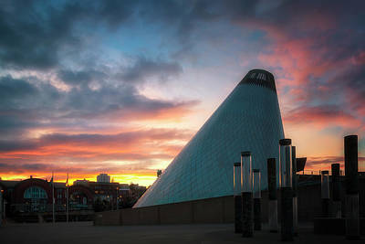 Sunset At The Museum Of Glass Art Print