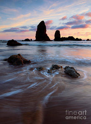 Cannon Beach Wall Art - Photograph - Sunset At The Needles by Mike Dawson