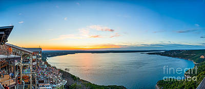 Scenic Photograph - Sunset At The Oasis Pano by Tod and Cynthia Grubbs