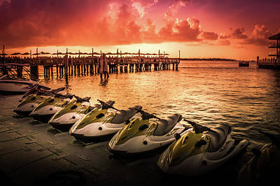 Mallory Square Key West Wall Art - Photograph -  Sunset At The Oceanside Pier by Art Spectrum