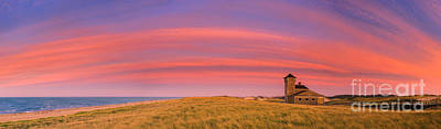 Sunset At The Old Harbor Us Life Saving Station At Race Point, P Art Print