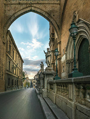 Photograph - Sunset At The Palermo Cathedral by Michael Thomas