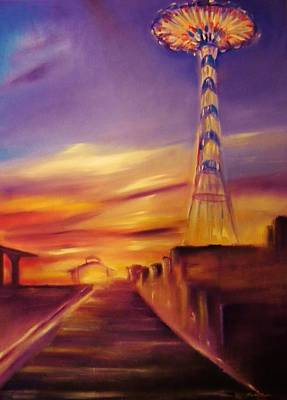Sunset At The Parachute Perch Original by Sandy Ryan