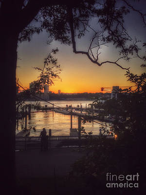 Photograph - Sunset At The Pier by Miriam Danar